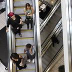 Escalators are pictured.