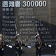 """Chinese honor guard members march past the words """"Victims 300000."""""""