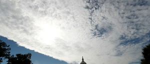a photo of clouds hanging over the Capitol in Washington, D.C.
