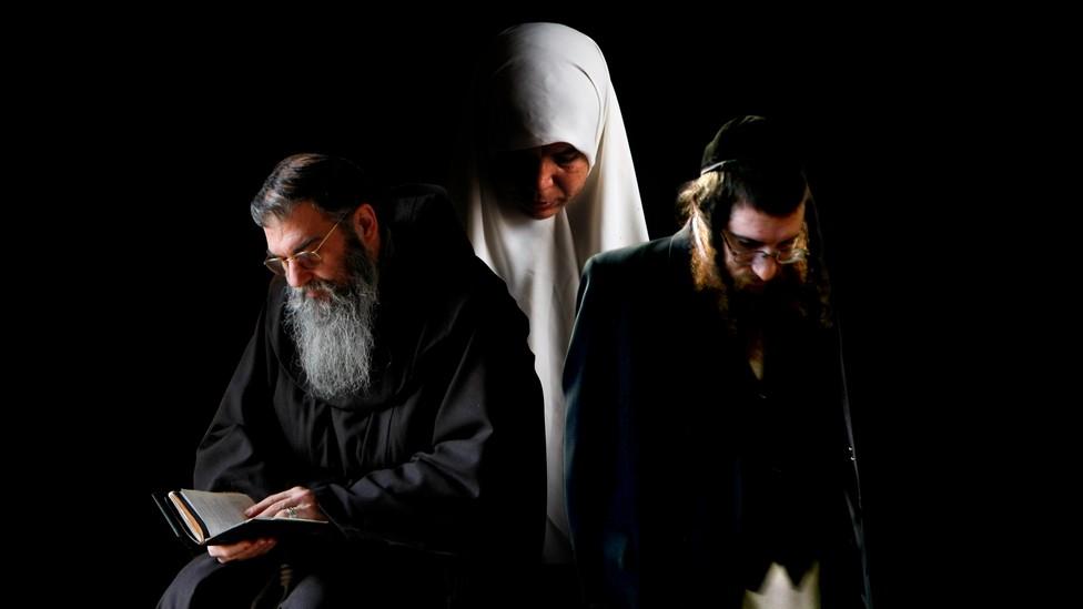 A Christian monk, a Muslim woman, and an Orthodox Jewish man