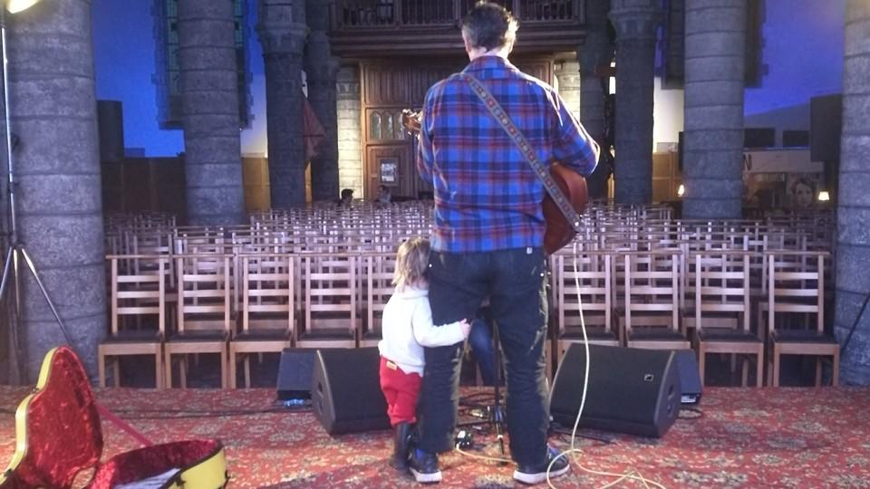Phil Elverum and his daughter
