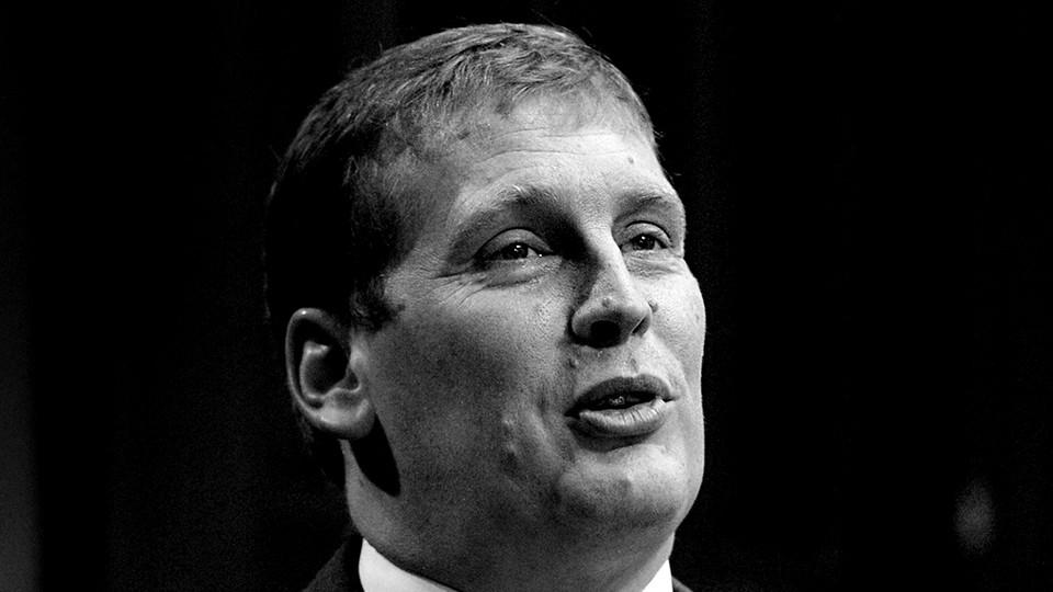 A black-and-white photograph of the Michigan state senator Ed McBroom