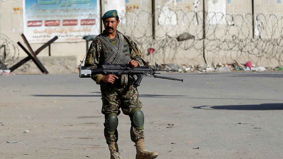 An Afghan National Armysoldier