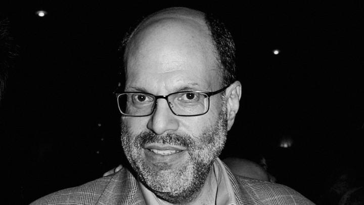 Black and white photo of Scott Rudin