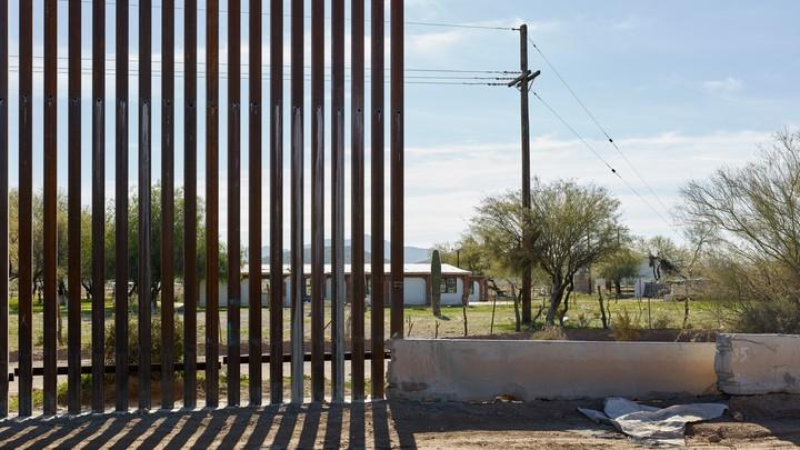 The border wall in Arizona
