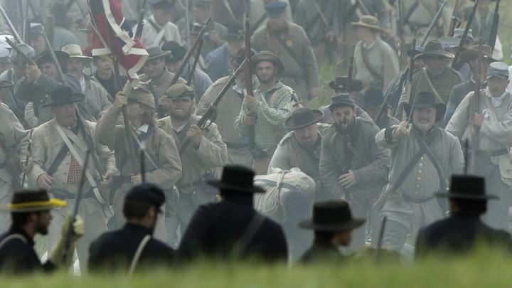 A Civil War reenactment