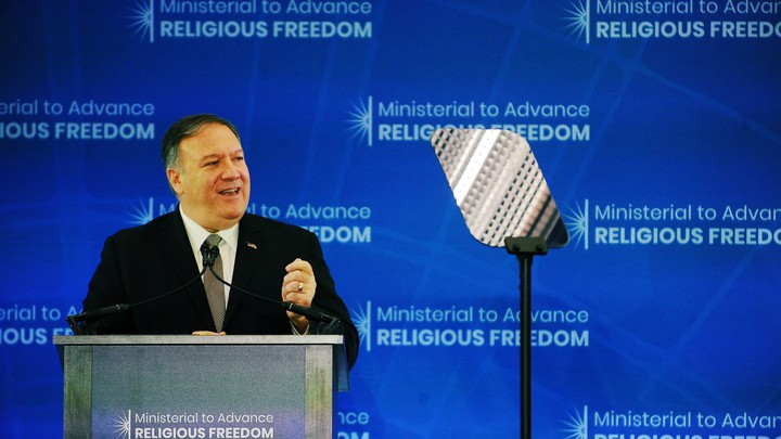 Secretary of State Mike Pompeo speaks at the Ministerial to Advance Religious Freedom.