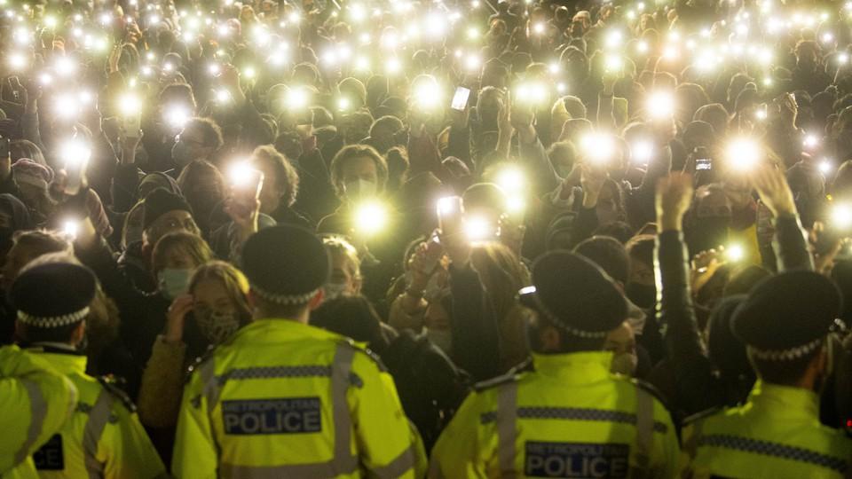 A vigil for Sarah Everard in London