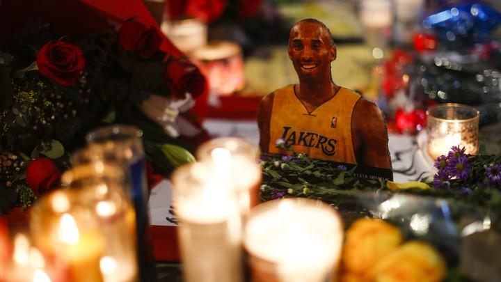 A memorial for Kobe Bryant.