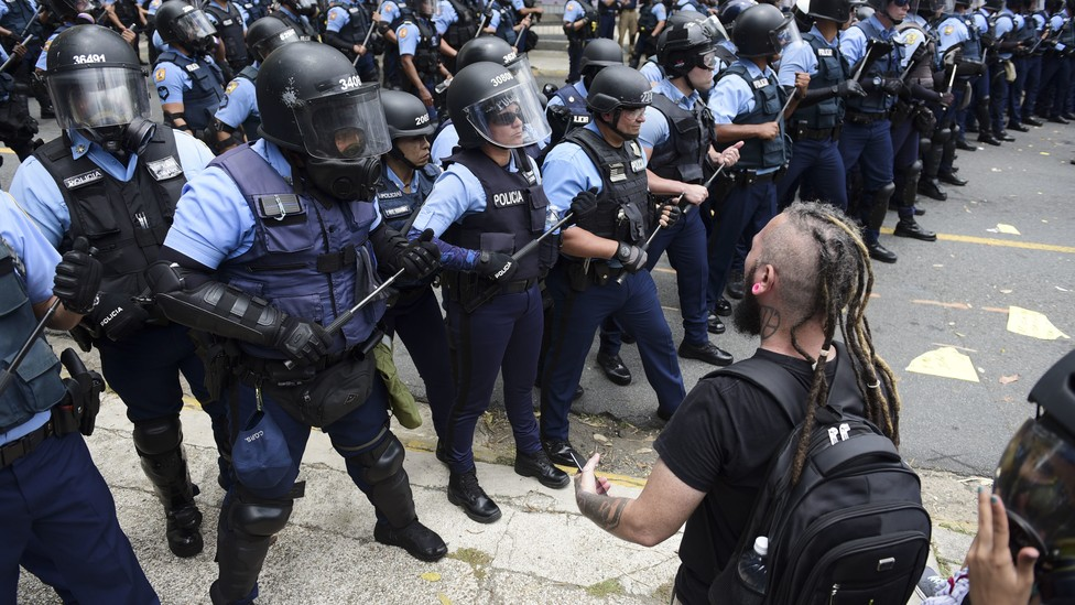 A scene from recent protests in Puerto Rico