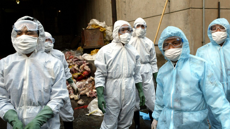 Quarantine inspectors in China