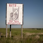 photo: a sign protesting meth use in rural Montana.