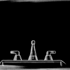 An illustration of a sink dripping water