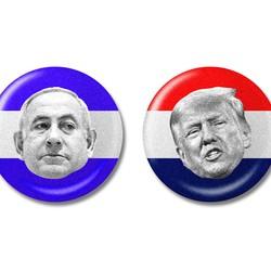 Illustration of Benjamin Netanyahu, Donald Trump, and Keiko Fujimori