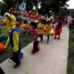 photo: Children in Halloween costumes in Sierra Madre, California.