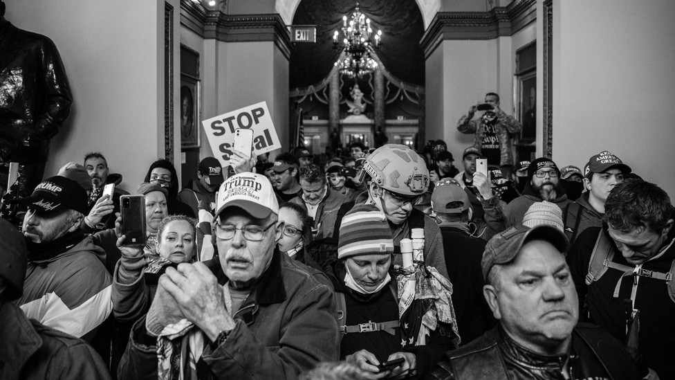 Insurrectionists at the U.S Capitol on January 6
