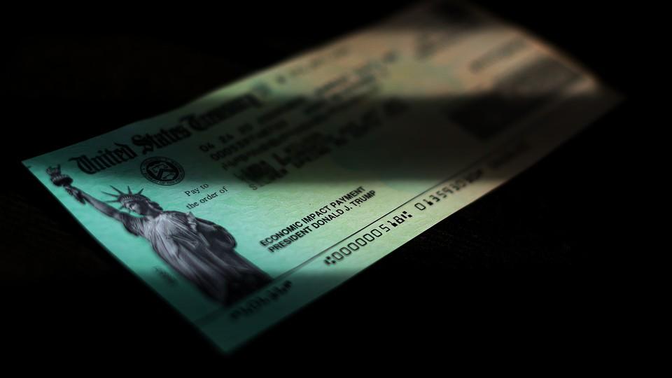 A U.S. Treasury check