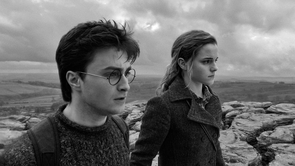 Daniel Radcliffe and Emma Watson in Harry Potter