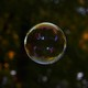 Photo of a soap bubble and reflections
