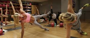 Women in a pilates class