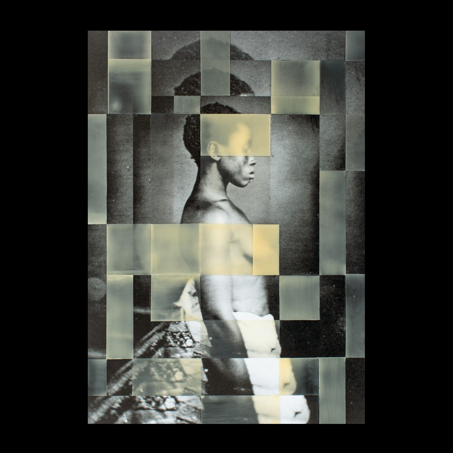 a mosaic image of a formerly enslaved woman in profile