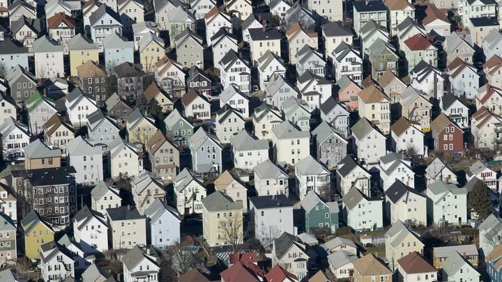 Suburban homes in Massachusetts.