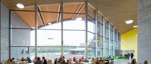 Communal space at classroom in Espoo, Finland.