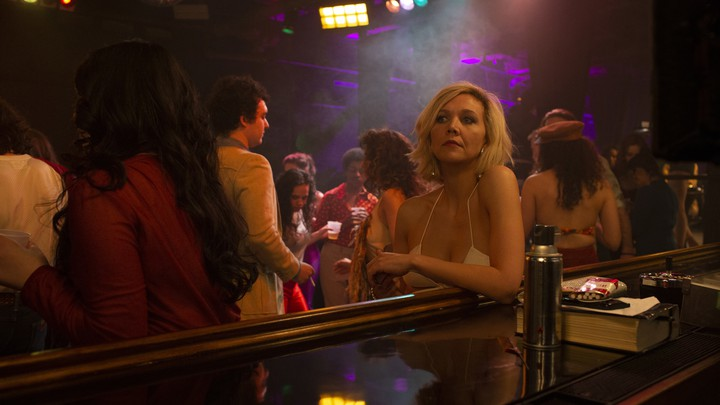 Candy (Maggie Gyllenhaal) in a scene from Season 2 of HBO's 'The Deuce'