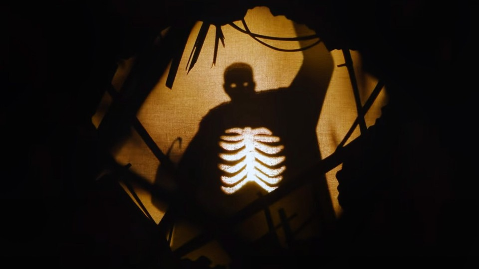 A shadowy silhouette of Candyman