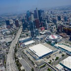 Downtown Los Angeles is pictured.