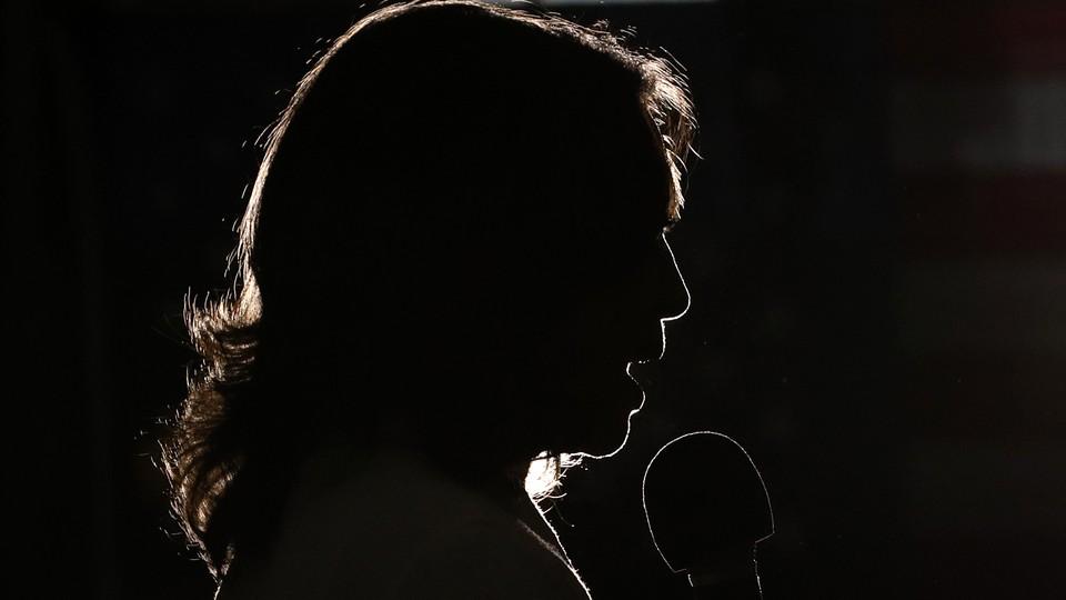 Kamala Harris in silhouette