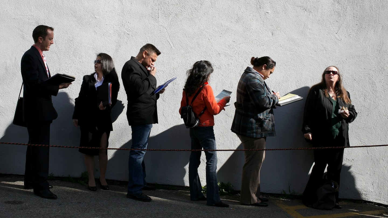 Job seekers in California in 2009