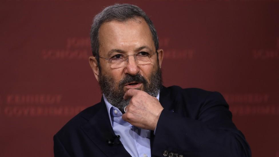 Former Israeli Prime Minister Ehud Barak speaking at Harvard