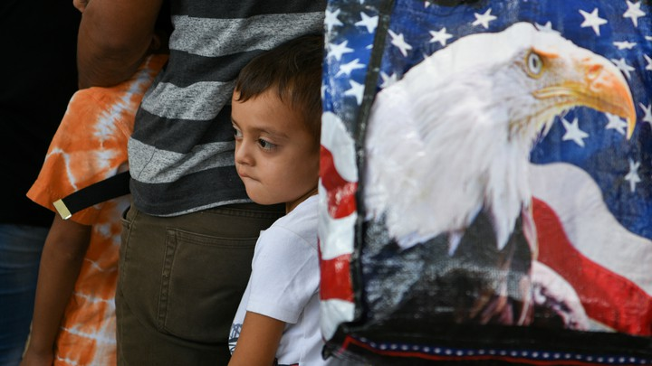 A boy whose family is seeking asylum