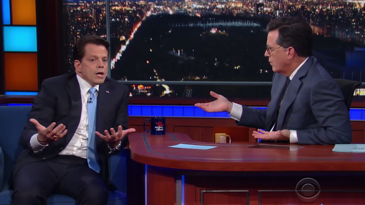 Anthony Scaramucci was a guest on <i>The Late Show With Stephen Colbert</i> on August 14, 2017.