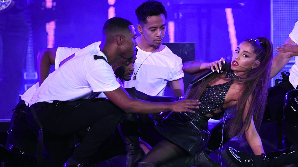 Ariana Grande performs in 2018.