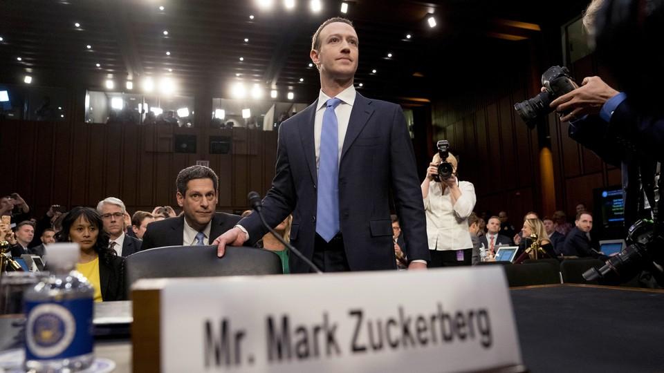 Mark Zuckerberg at a congressional hearing