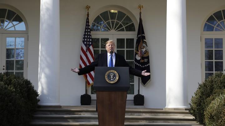 Trump S Speech Declaring A National Emergency Full Text The Atlantic