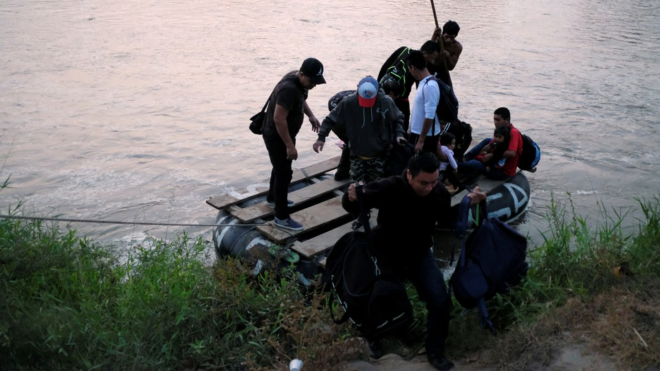 Central American migrants en route to the United States