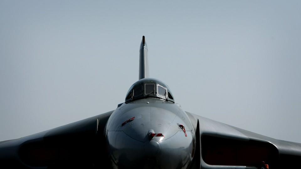 A Cold War–era bomber