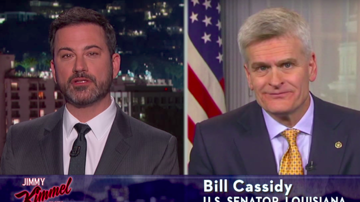 Jimmy Kimmel interviews Senator Bill Cassidy of Louisiana, about health care, in May