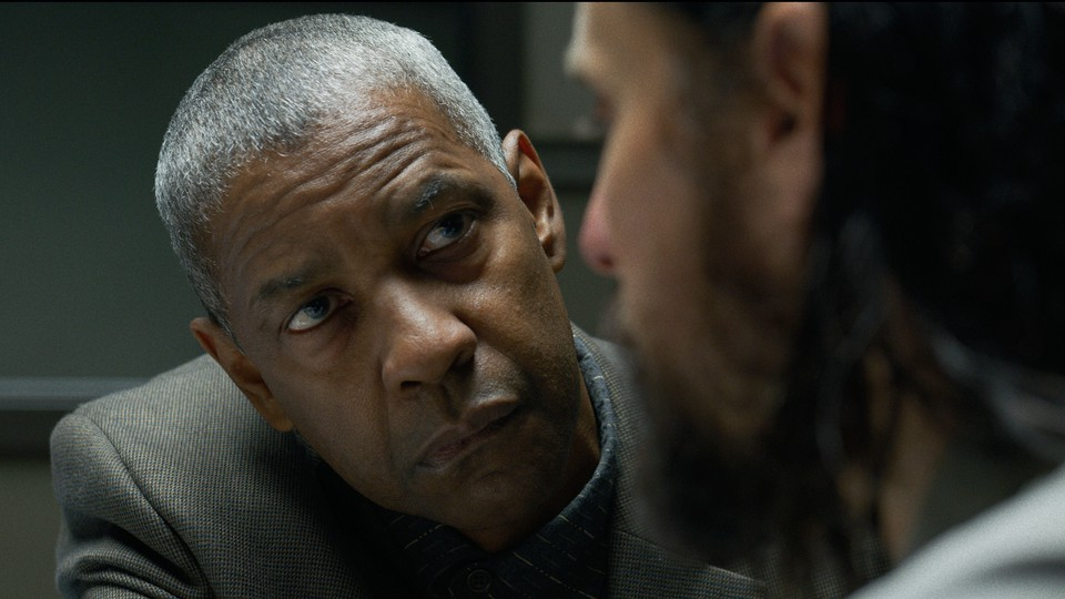 A close-up of Denzel Washington in 'The Little Things'