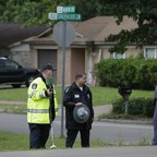 A photo of police in the Dallas suburb of Balch Springs, Texas.