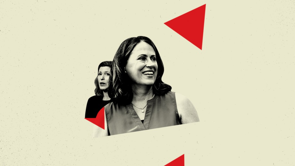 Theresa Greenfield and Senator Joni Ernst