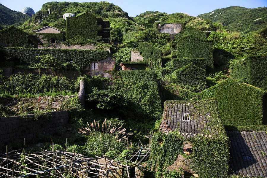 Houtouwan Village. Abandoned in the 1990's and swallowed by Kudzu. Picture taken 2015