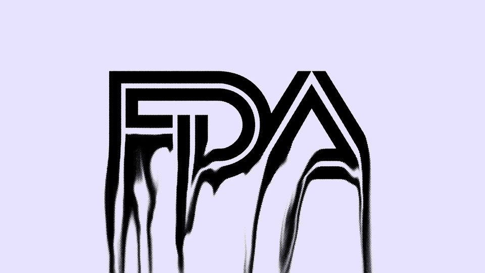 FDA logo, but the letters are melting