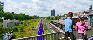 A rendering of Berlin's cycle highways