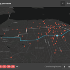 A visualization maps the number and kind of traffic fatalities on your commute route.