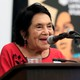 Dolores Huerta gives a lecture at an event