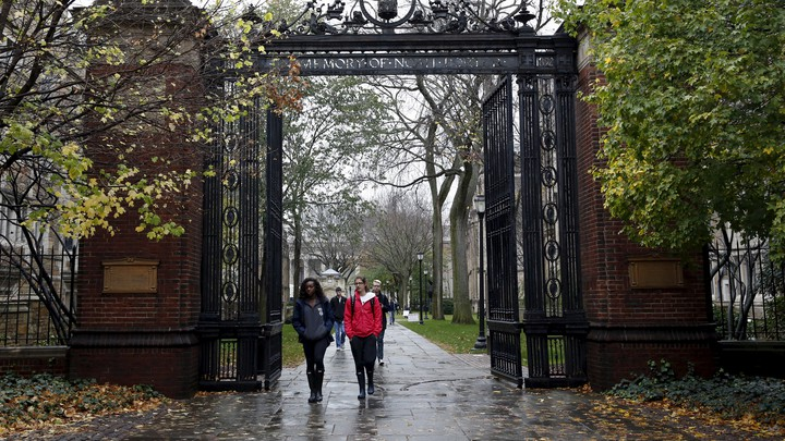 Students on the Yale University campus